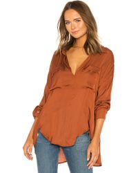 Free People - Starry Dreams Pullover In Brown - Lyst