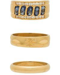 Vanessa Mooney - Ring Set In Metallic Gold - Lyst
