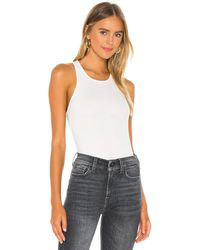 7 For All Mankind Racer Back Tank - Weiß