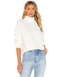 Free People Afterglow Mock Neck Jumper - White