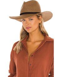 Janessa Leone Hollis Packable Hat - Brown