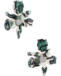 Lele Sadoughi Серьги Crystal Lily В Цвете Green Abalone - Зеленый