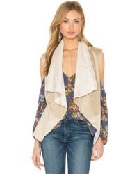 Bishop + Young - Suede Faux Fur Lined Vest - Lyst