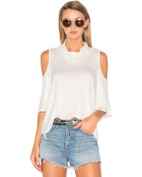 Ella Moss - Bella Cold Shoulder Top - Lyst