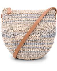 Florabella Torcello Woven Crossbody Bag - Metallic
