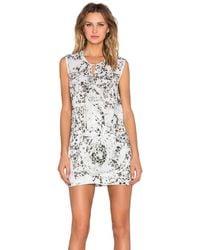 IKKS - Patterned Mini Dress - Lyst