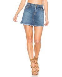 James Jeans - Mia Cut Off Mini Skirt - Lyst