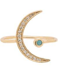 Joolz by Martha Calvo - Cz Moon Ring - Lyst