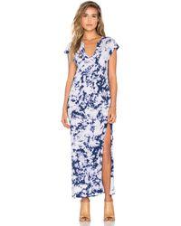 LNA - Cap Sleeve V Neck Maxi Dress - Lyst