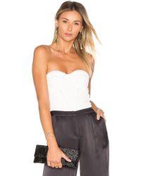 Misha Collection - Liana Silk Bodysuit - Lyst
