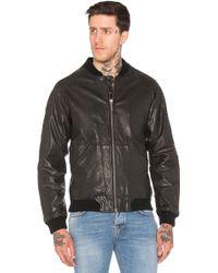 Nudie Jeans Brook Leather Jacket - Black
