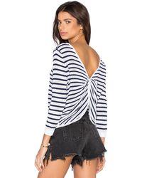 Shae - Twist Back Crop Pullover Sweater - Lyst