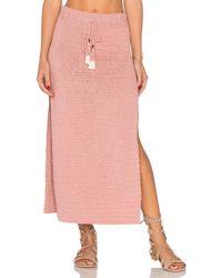 She Made Me - Jannah Crochet Midi Skirt - Lyst