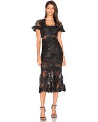 Three Floor Lace Affair Dress - Black