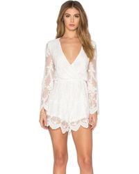 Toby Heart Ginger - Lace Billow Front Playsuit - Lyst