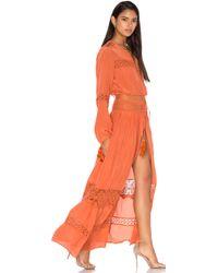 Tessora - Cut Out Lace Maxi Dress - Lyst