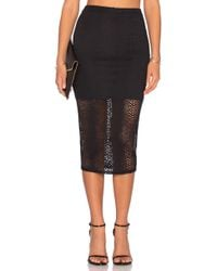 Twenty Boa Crochet Midi Skirt - Black
