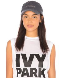 Ivy Park - Embroidered Dad Cap In Charcoal. - Lyst