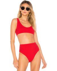 Chromat - Mica Bikini Top In Red - Lyst