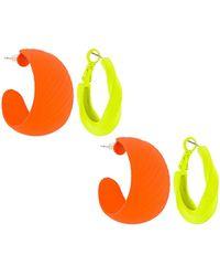 8 Other Reasons Conjunto de aros matte - Naranja