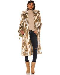 Nili Lotan Oversized-Mantel aus Faux Fur - Braun
