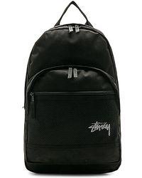 Stussy - Stock Backpack In Black. - Lyst
