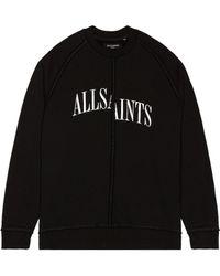 AllSaints Diverge クルーネック - ブラック