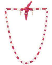Lele Sadoughi Pearl Skinny Scarf Necklace - Multicolour