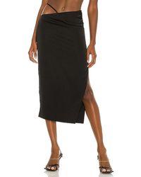 h:ours Sonnie Midi Skirt - Black