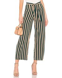Amuse Society - Earn Your Stripes Pant In Dark Green - Lyst
