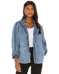 Free People Dolman Quilted Denim Jacket. Size M, S, XS. - Blau