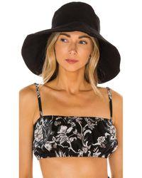 Mikoh Swimwear Шляпа Panda В Цвете Ночь - Черный