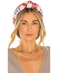 Lele Sadoughi Knitted Knotted Headband - Red
