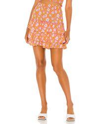 Cool Change Penelope Flora Skirt - Orange