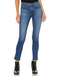AG Jeans Скинни В Цвете Ландшафт - Синий