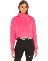 Nike Худи Clean Fleece В Цвете Digital Pink & Metallic Silver - Pink. Размер L (также В M,xs). - Розовый