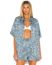 Frankie's Bikinis Fifi silk top - Azul