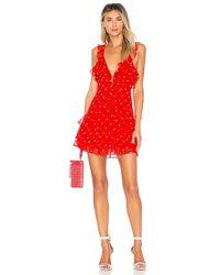 For Love & Lemons - Analisa Polka Dot Tank Dress In Red - Lyst