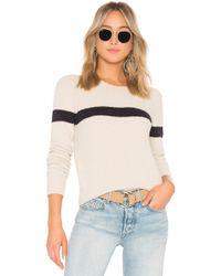Vince - Single Stripe Pullover - Lyst