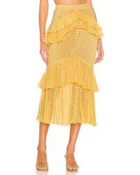 Song of Style Ada Midi Skirt - Yellow