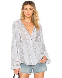 Free People - Baja Babe Striped Pullover - Lyst