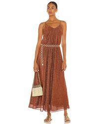 Oséree Lumiere Long Dress - Brown