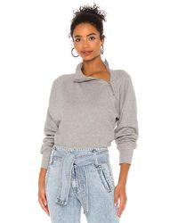 Marissa Webb Funnel Neck Sweatshirt - Grey