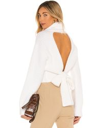 MAJORELLE Elouise Tie Back Sweater - White