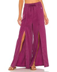 Free People X Fp Movement Abs Tracker Solid Pant - Purple
