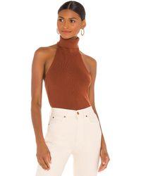 Ronny Kobo Yori Sweater Top - Brown