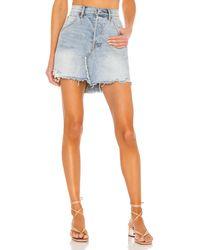 Free People Brea Cutoff Skirt - Blau