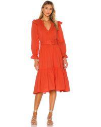 Cleobella Marseilles Midi Dress - Rot