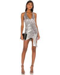 superdown - Драпированное Платье На Бретельках Alycia В Цвете Черный - Metallic Silver. Размер Xxs (также В Xs,s). - Lyst