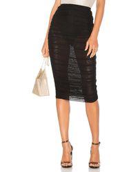 superdown Kinsley Mesh Midi Skirt - Black